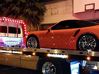 luxury sport car towing